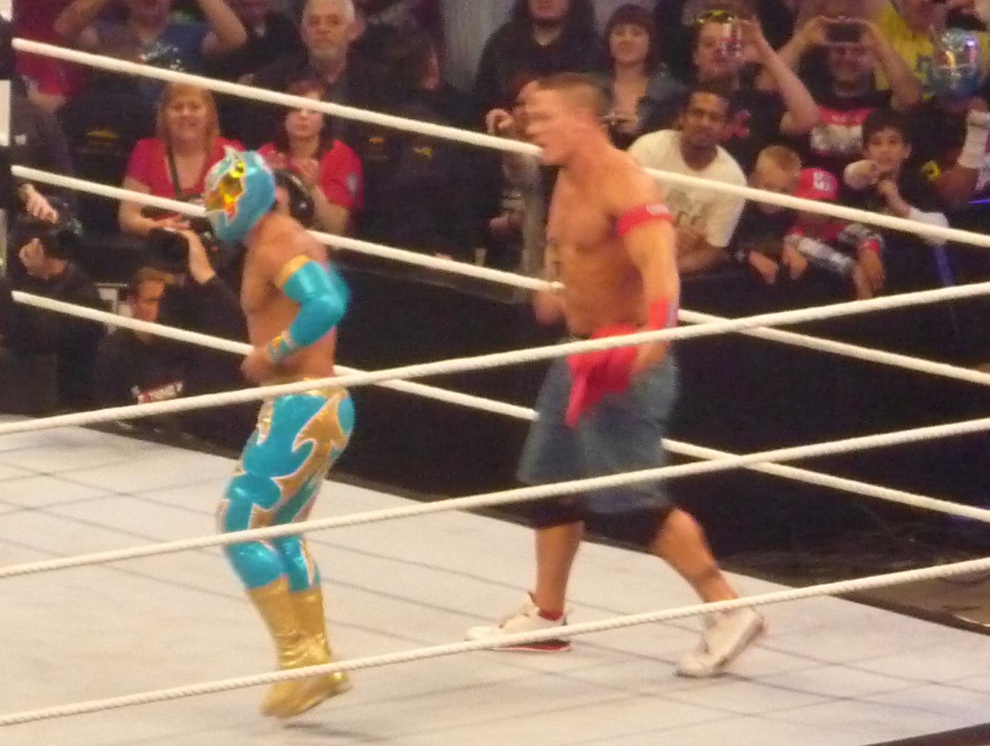 Description John Cena and Sin Cara.jpg