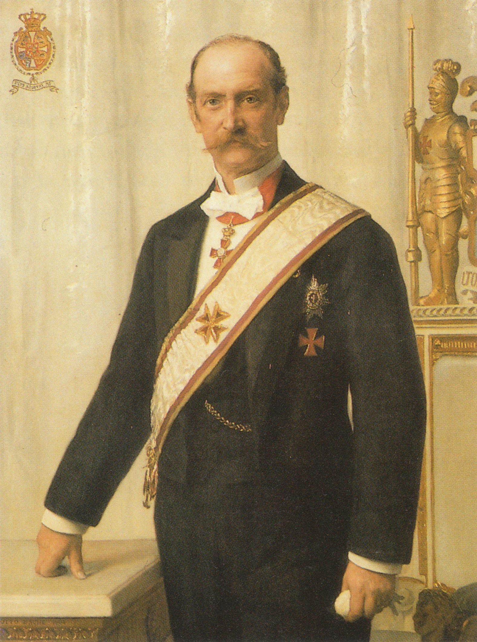 Kong Frederik VIII iført sin Frimurer Loge beklædning