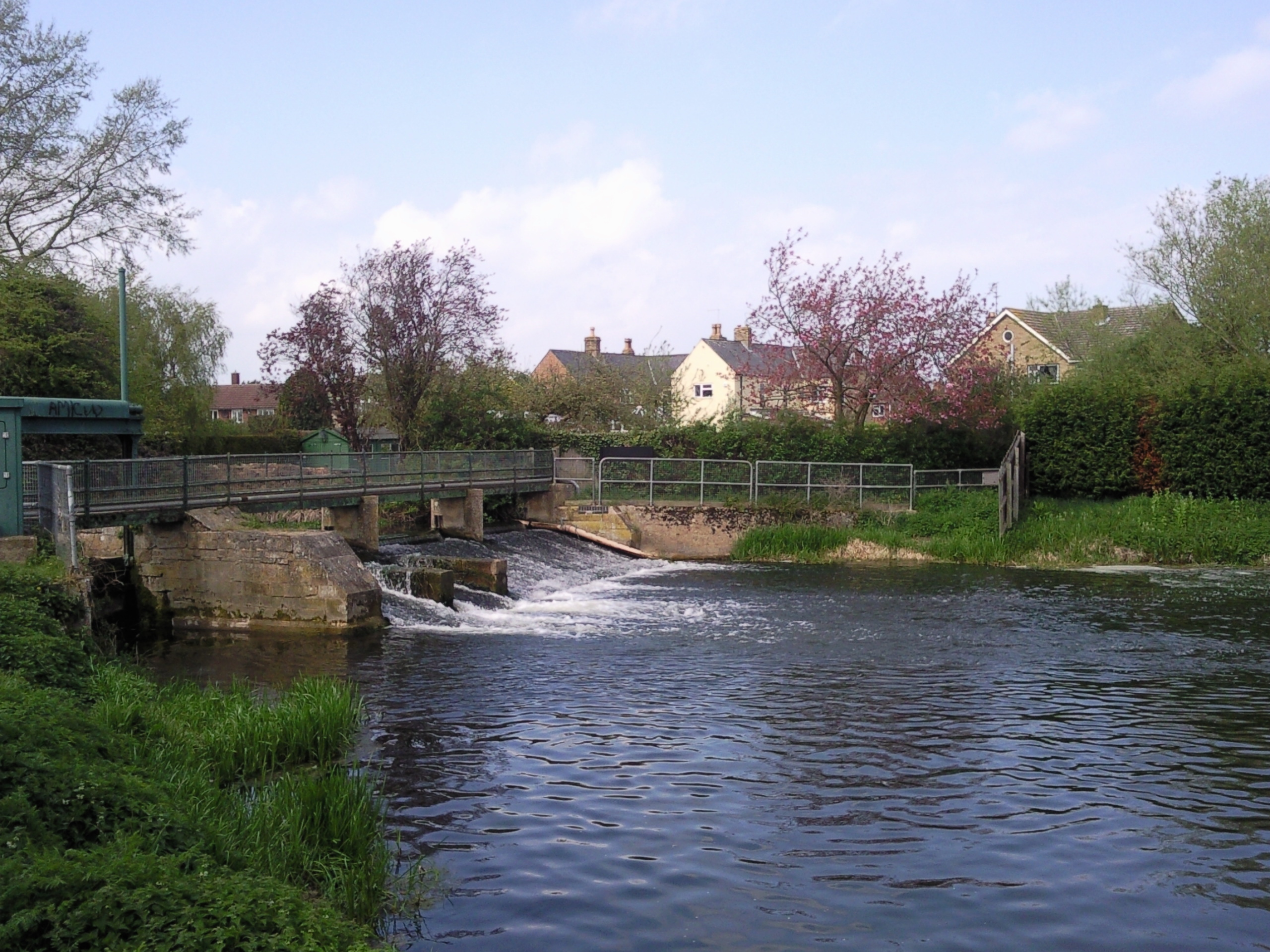 The remains of the low locks at Deeping St James