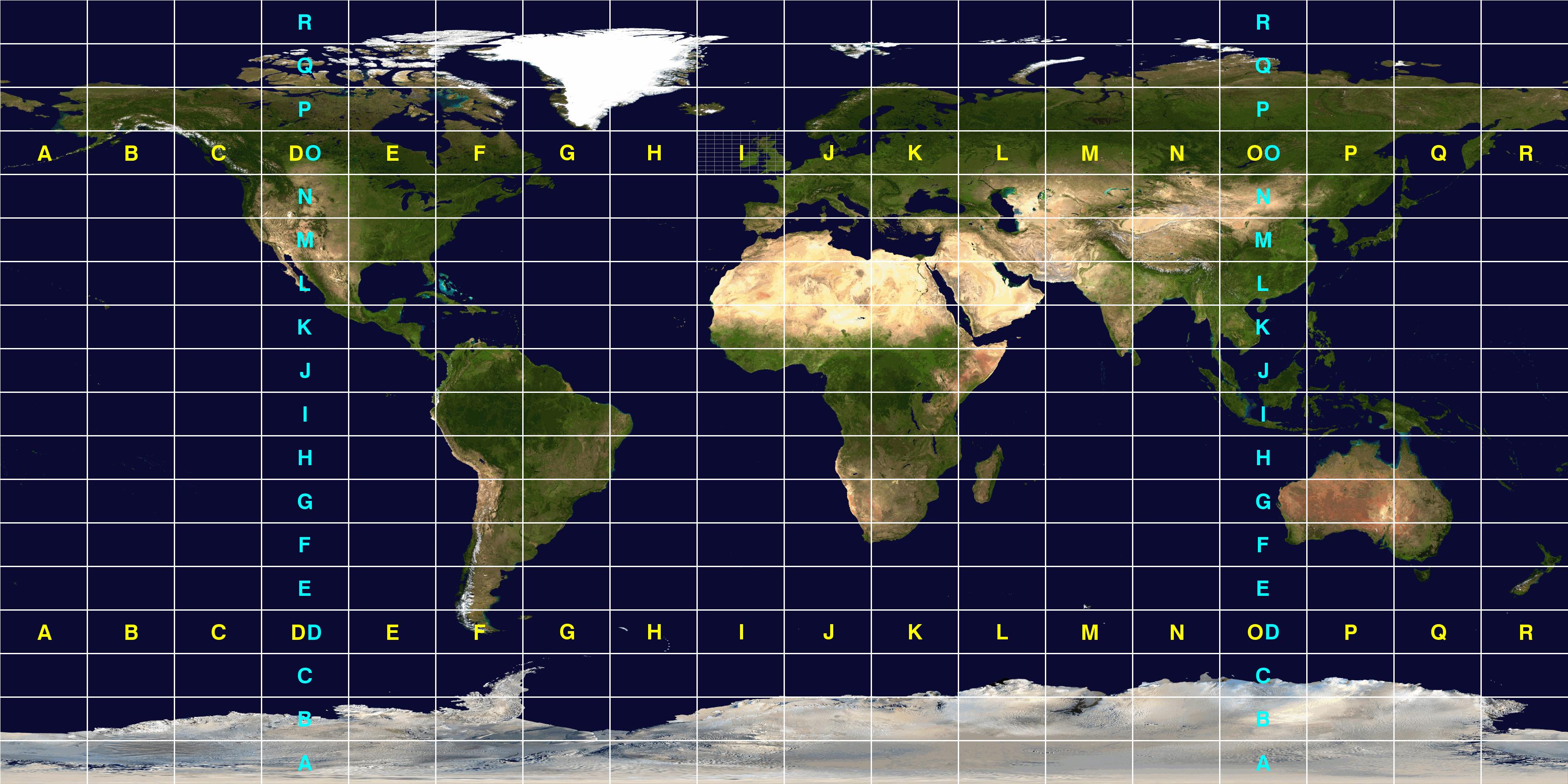 Maidenhead Locator System Wikiwand - Us maidenhead grid square map