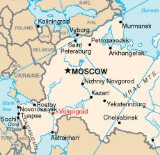 Volgograd, lieu de l'explosion