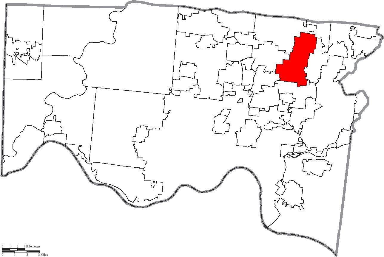 File Map Of Hamilton County Ohio Highlighting Blue Ash City