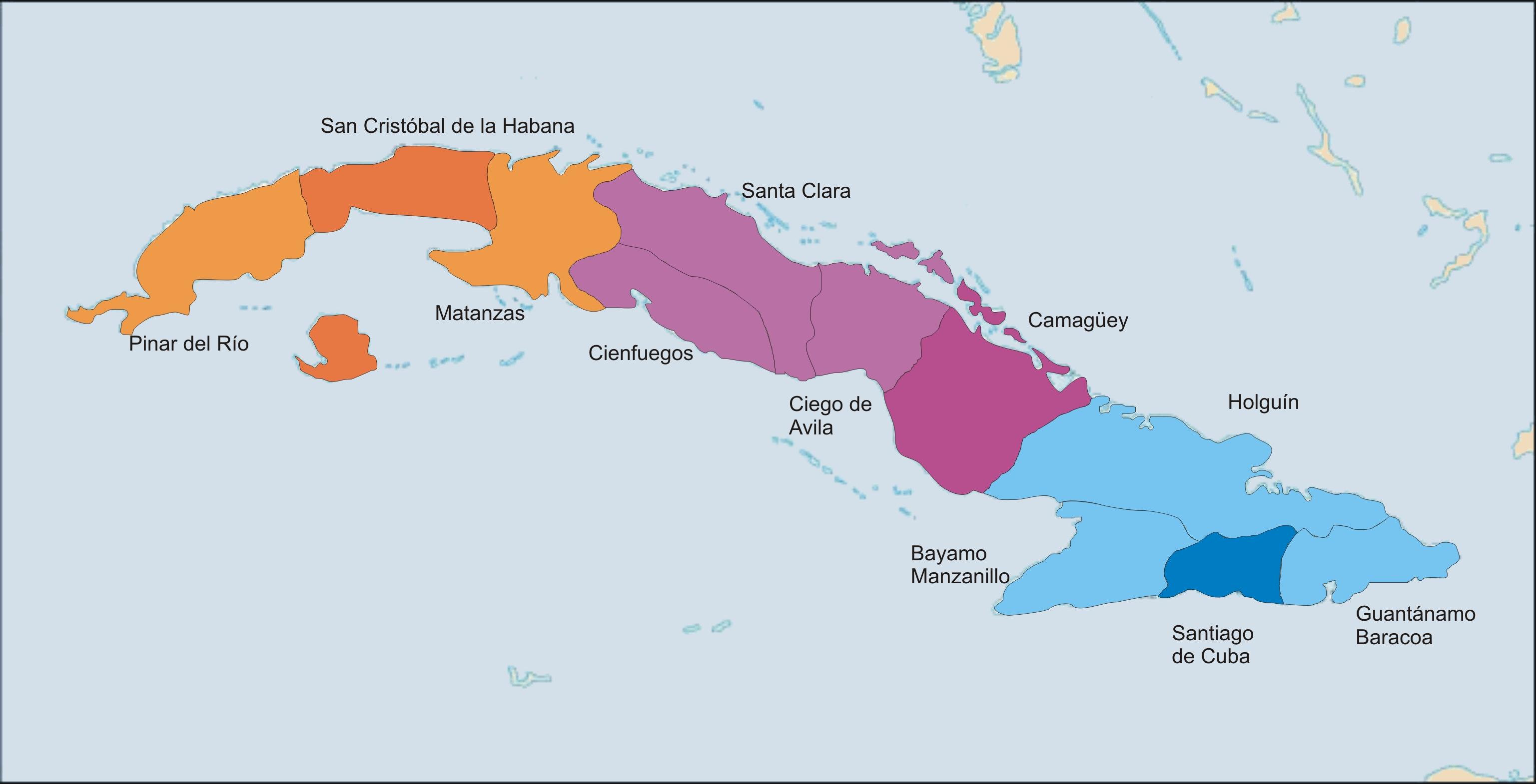 FileMap of the Cuban Roman Catholic diocesesjpg Wikimedia Commons