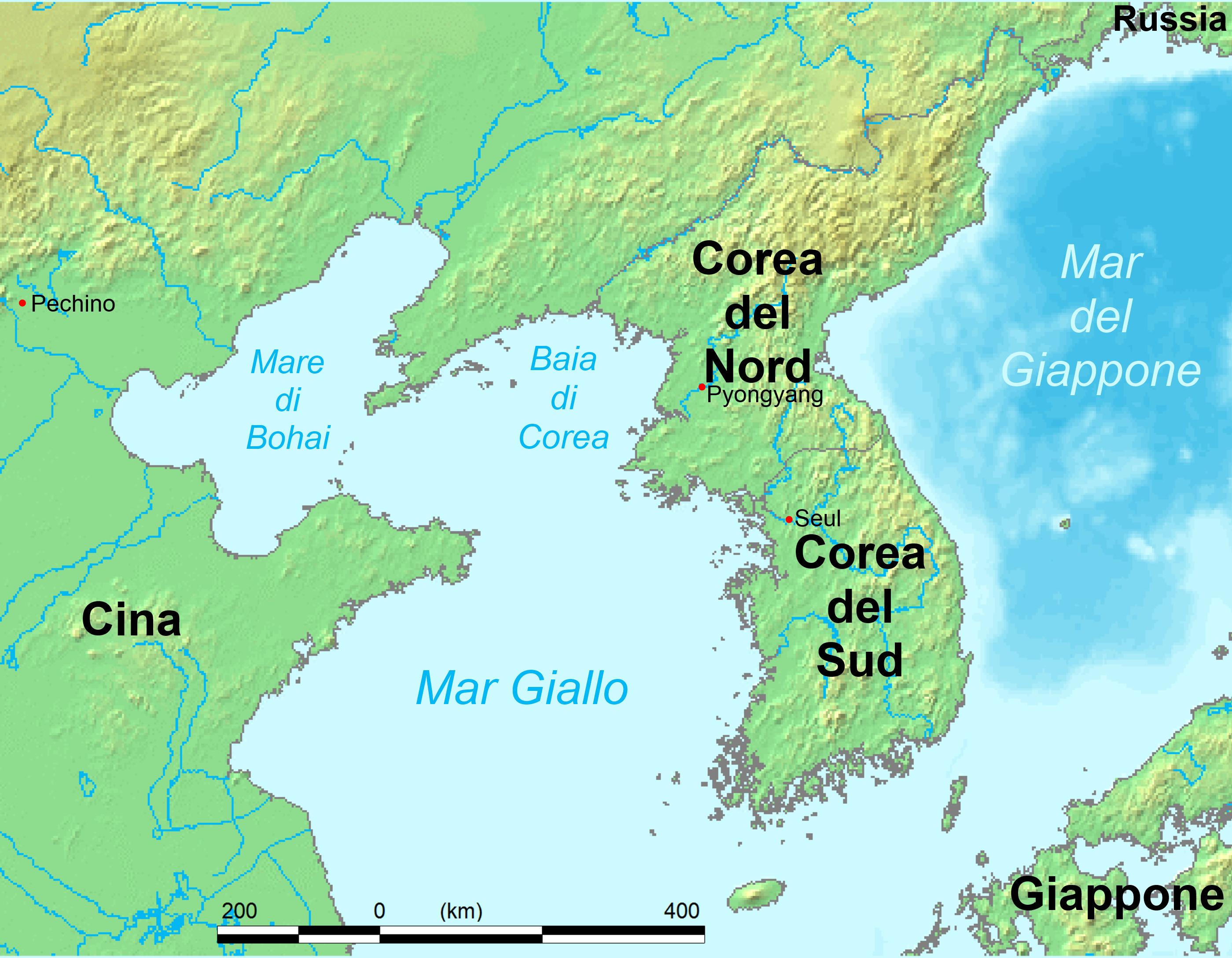 Cina E Giappone Cartina.Mar Giallo Wikipedia