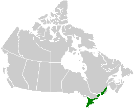 Canadian ecozone with the most southerly extent