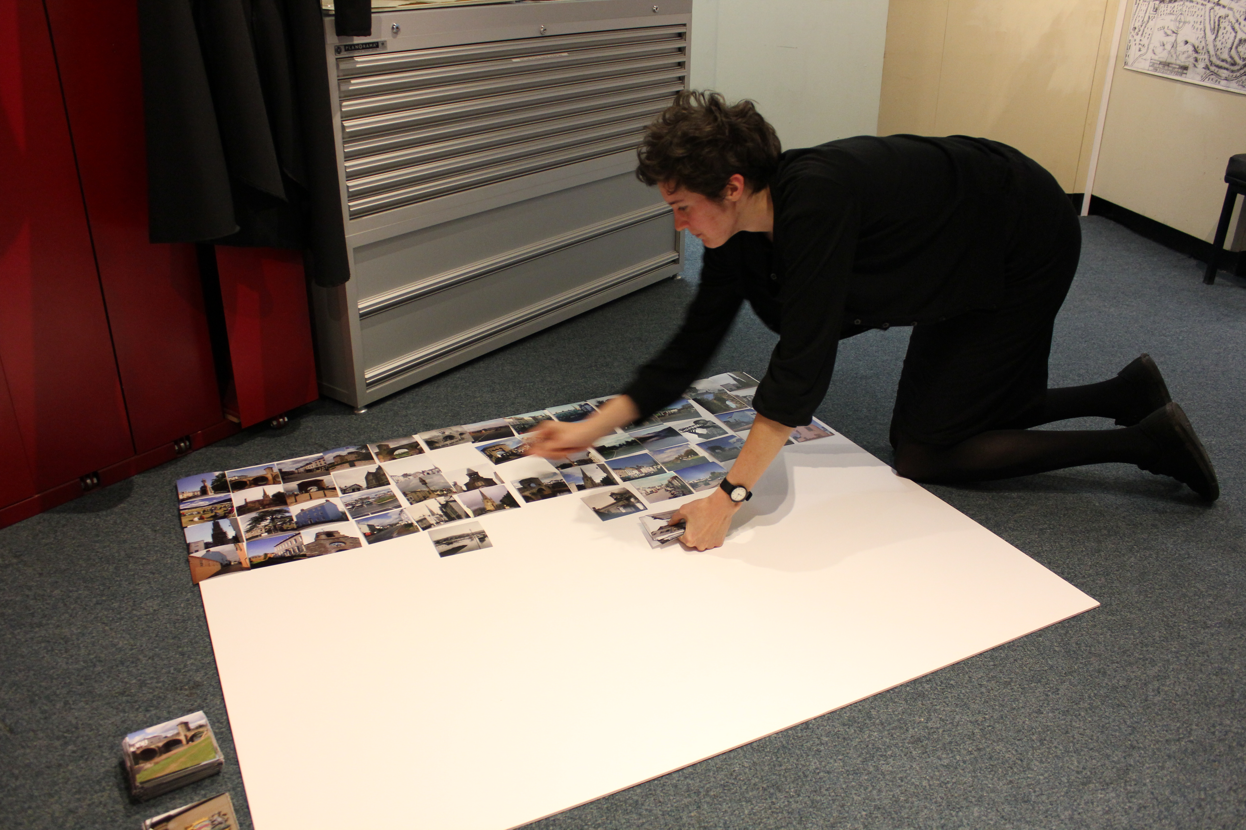 file monmouthpedia volunteer creating an exhibition of the images