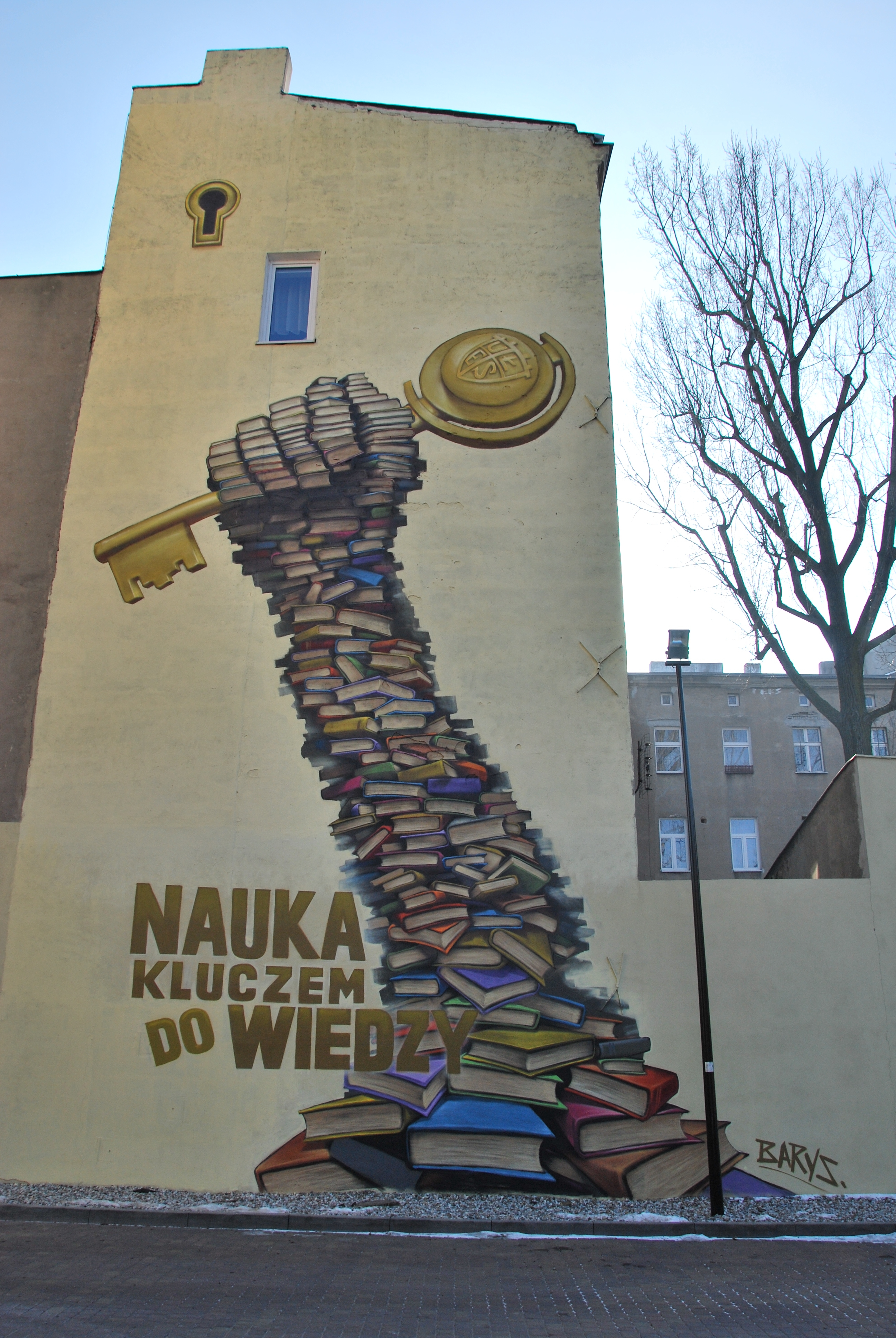 File mural 39 education a key for the knowledge 39 by barys for Education mural