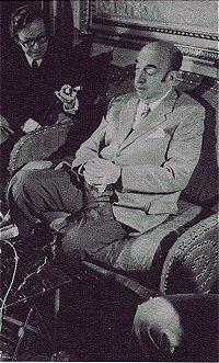 Neruda tras recibir el Premio Nobel de Literatura en 1971.