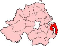 Kort med Ards i Nordirland