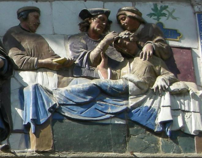 Opere di misericordia 03, santi buglioni, Visitare gli infermi, dett 04