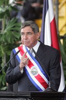 Óscar Arias Sánchez, president of Costa Rica, ...
