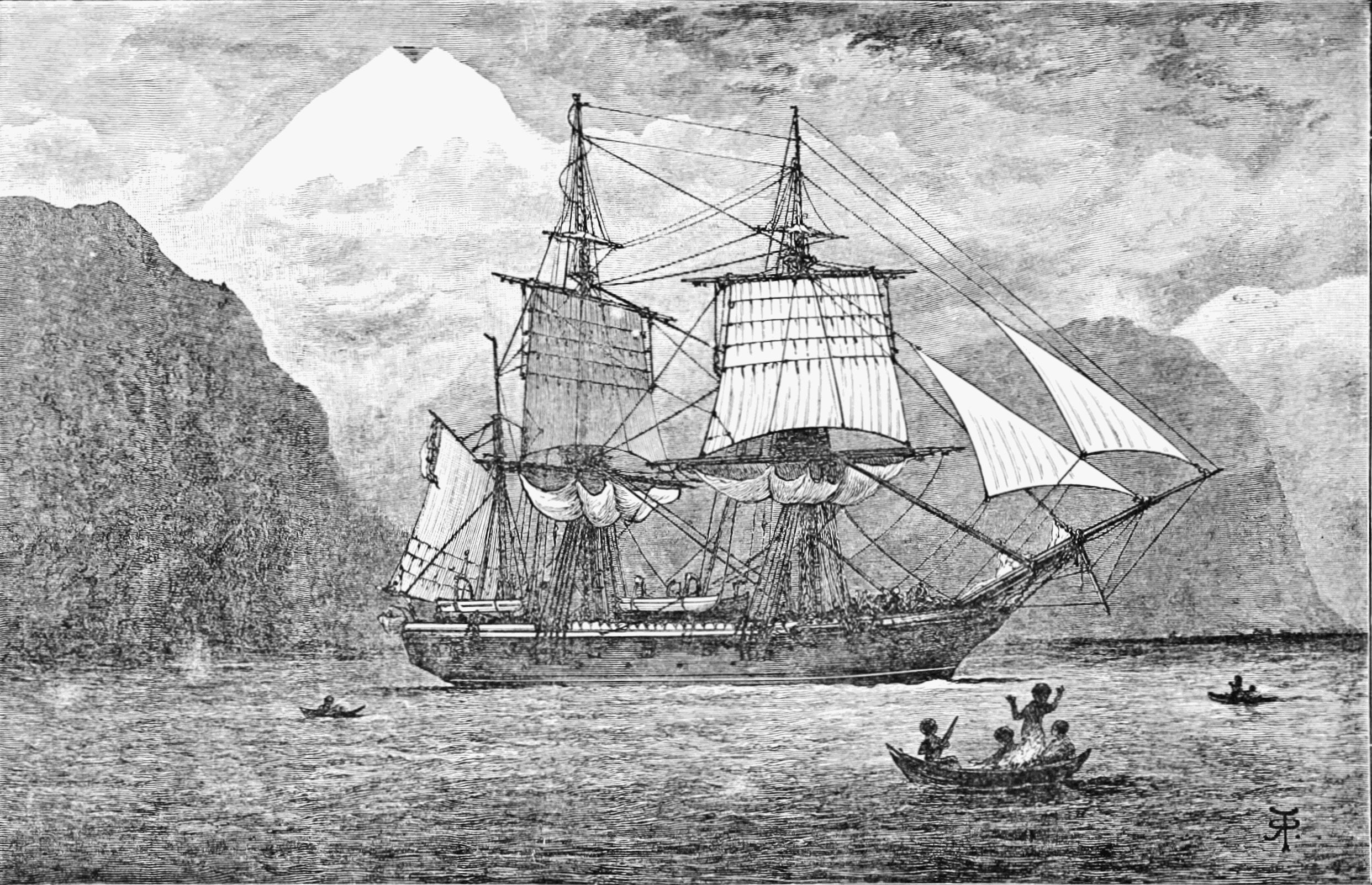 HMS Beagle launched, 1820.