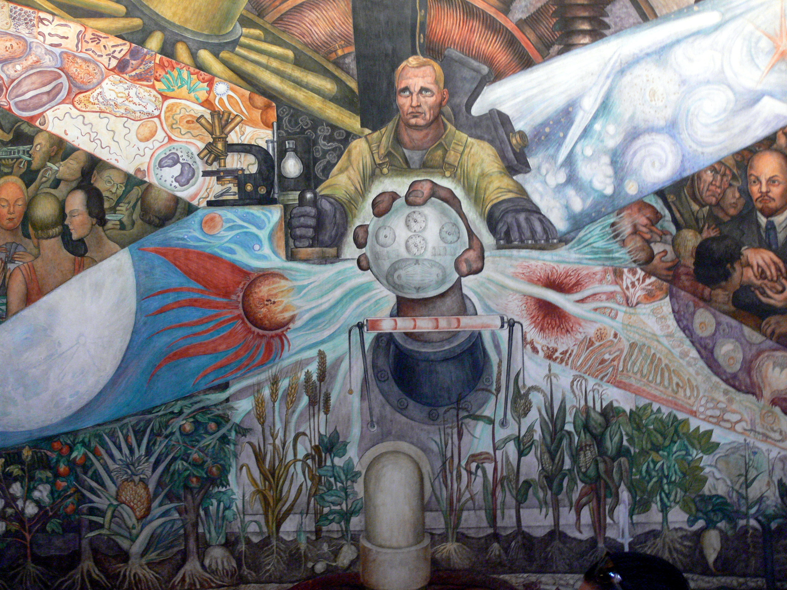 file palacio de bellas artes mural el hombre in cruce de caminos rivera 3 jpg wikimedia commons
