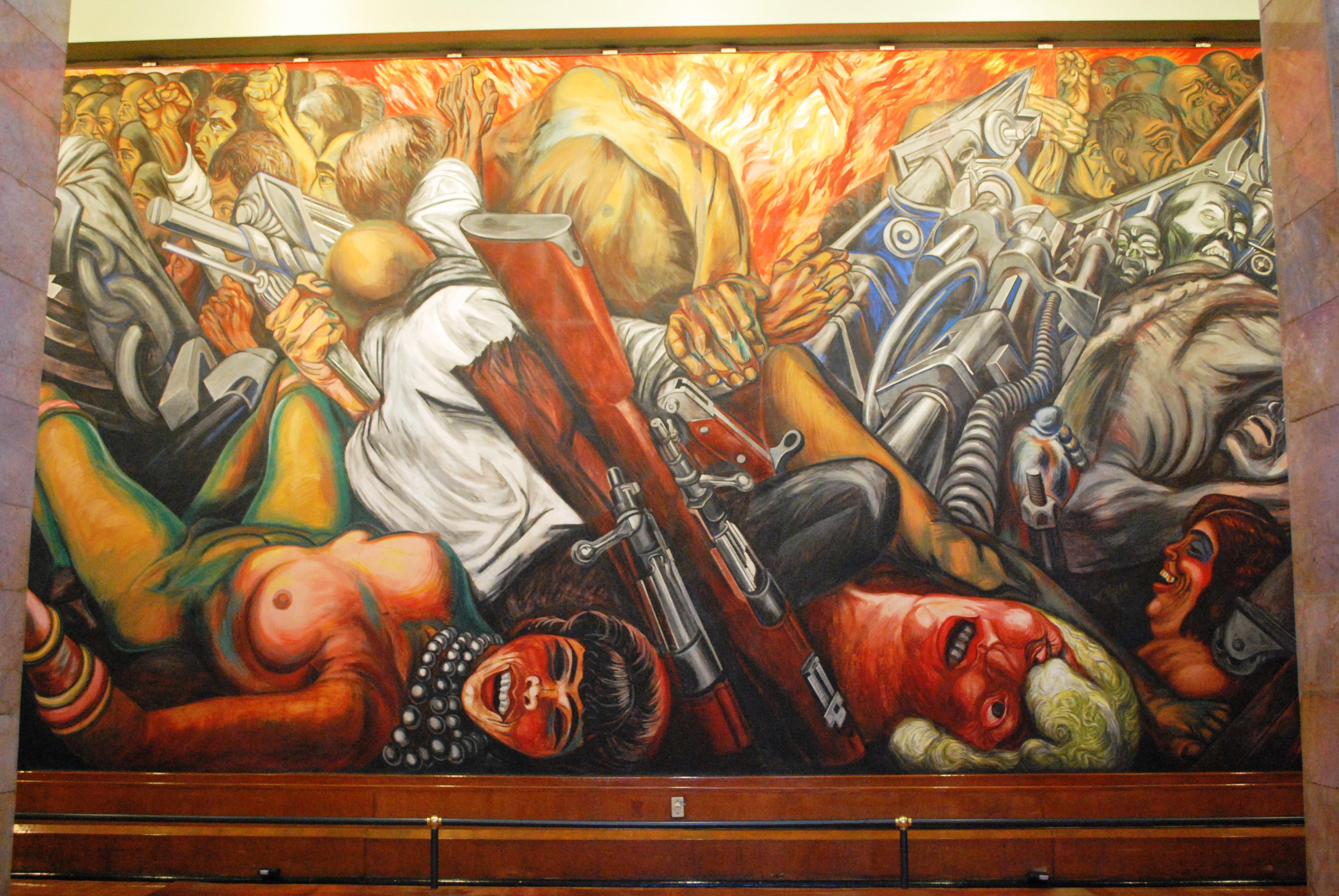 File palacio de bellas artes mural katharsis orozco 2 for Arte mural en mexico