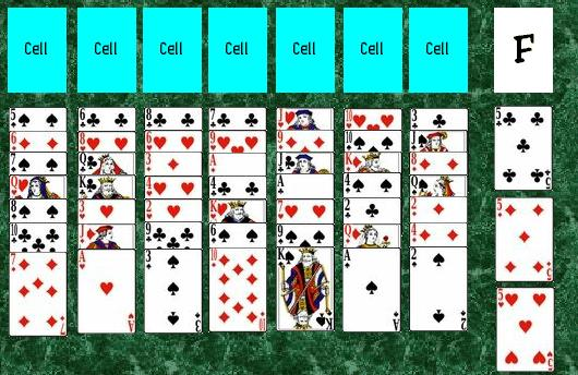 The initial layout of a game of Penguin.