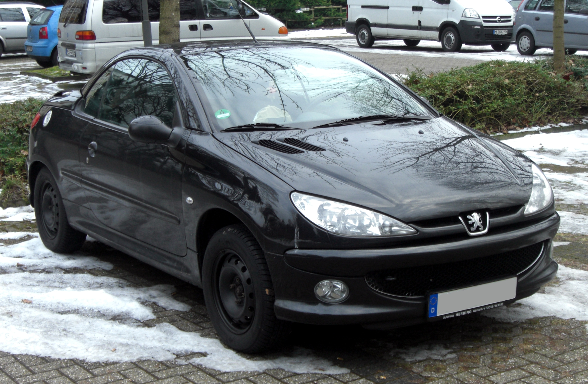 file peugeot 206 cc front jpg wikimedia commons. Black Bedroom Furniture Sets. Home Design Ideas
