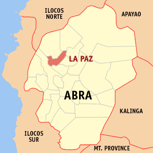 Map of Abra showing the location of La Paz