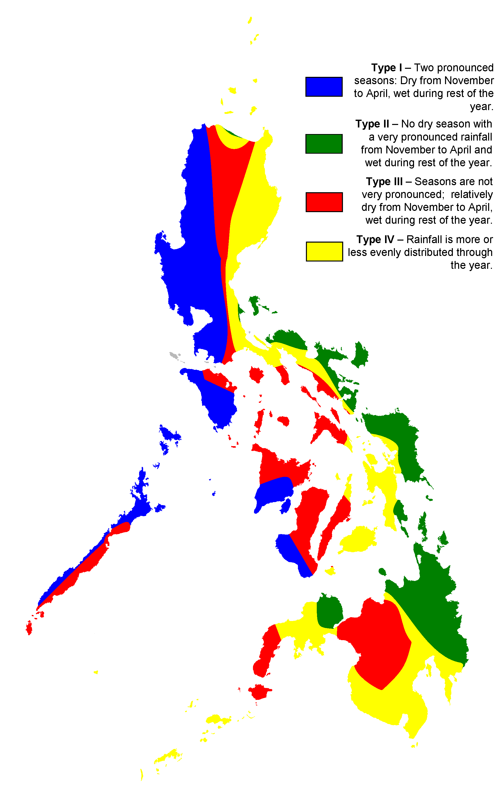FilePhilippine climate mappng  Wikimedia Commons