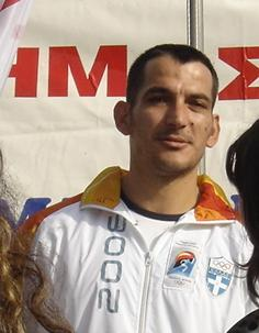 The Olympic winner Pirros Dimas, as photograph...