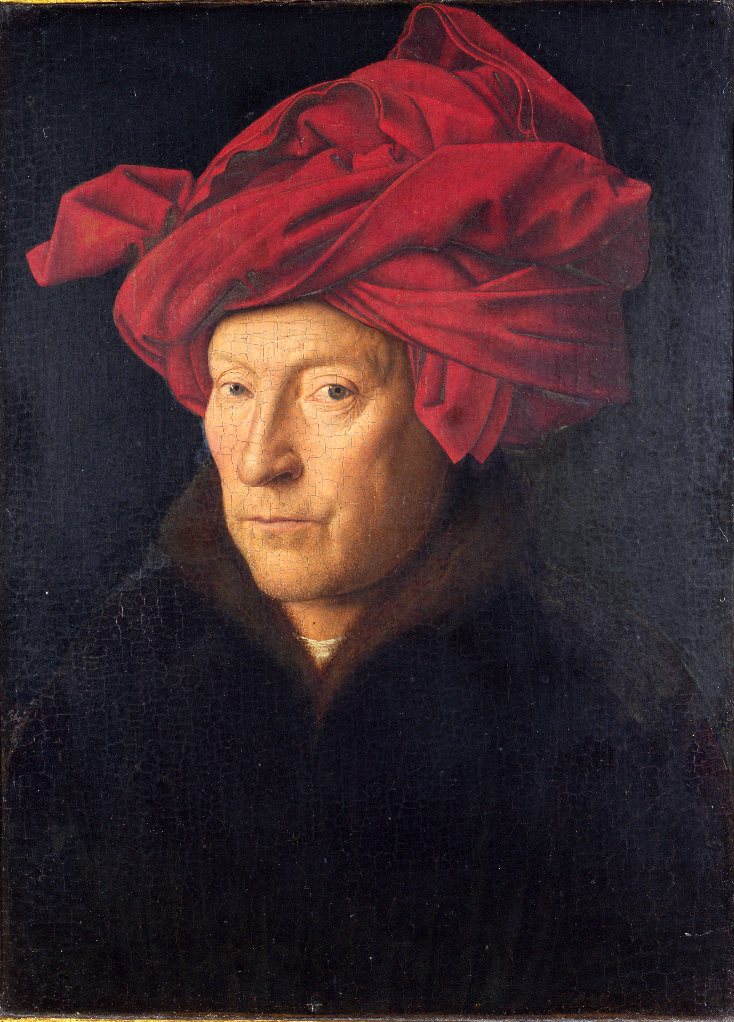 van Eyck, Portrait of a Man in a Red Turban