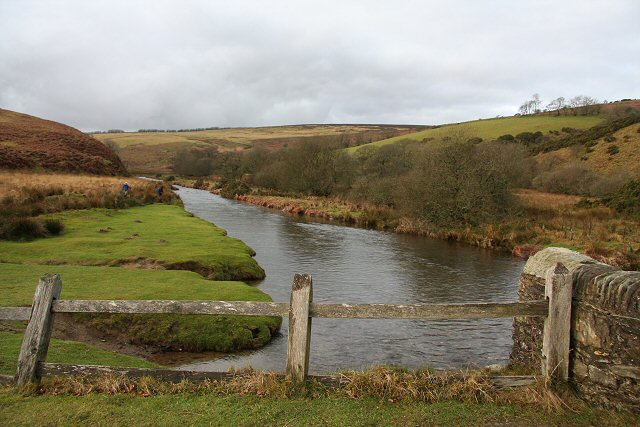 River Barle at Landacre - geograph.org.uk - 648808