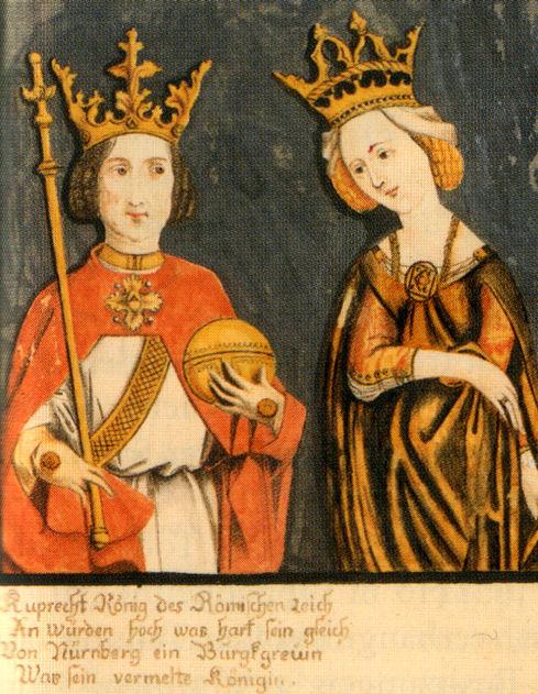 Roberto con su esposa Isabel de Nuremberg.