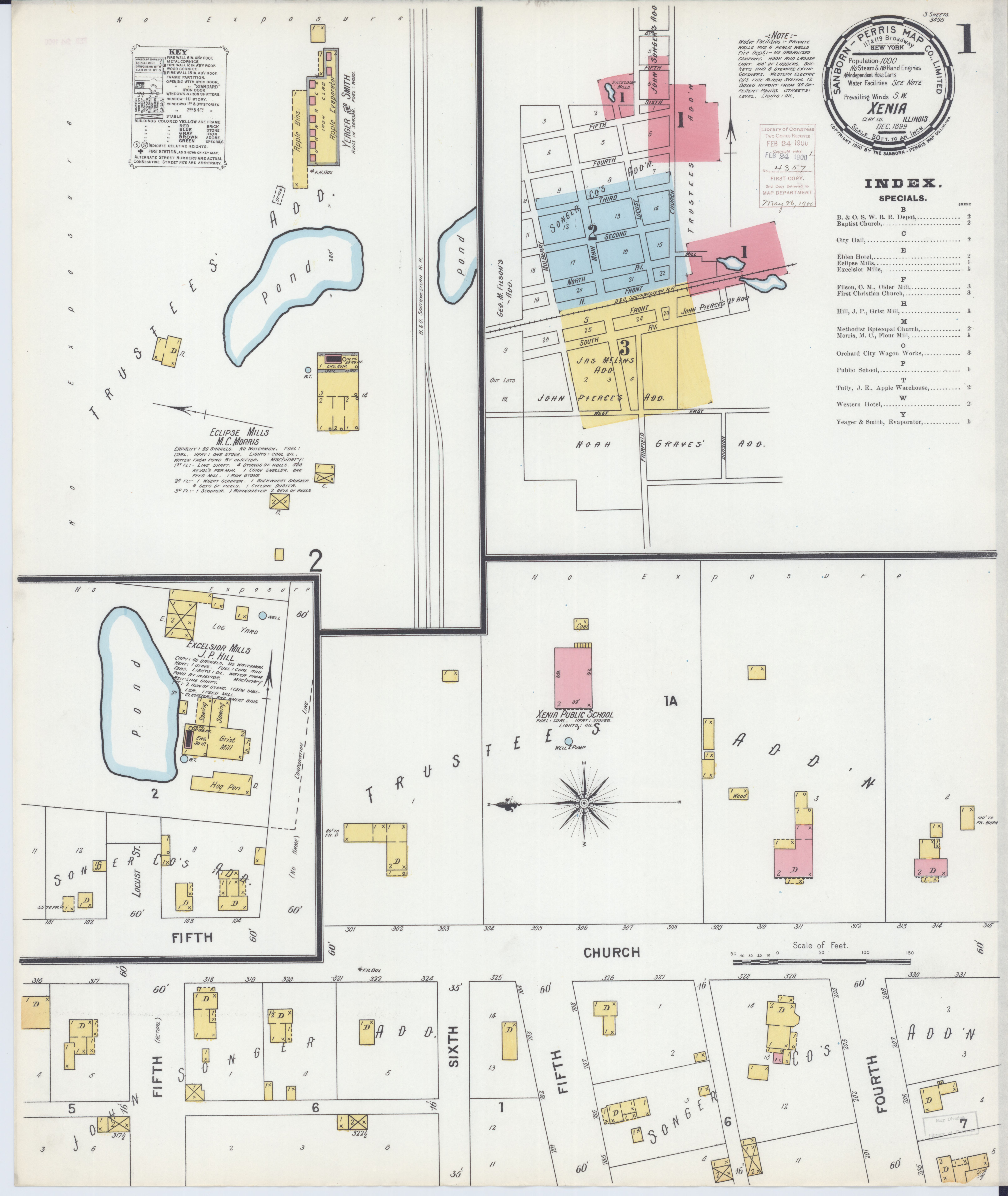 File:Sanborn Fire Insurance Map from Xenia, Clay County