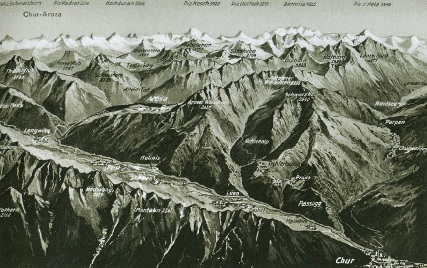 Mapa antiguo de la línea