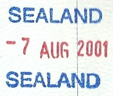 Passport stamp from Sealand