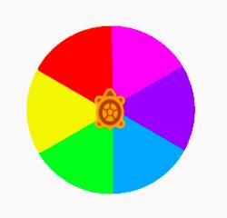 simple rainbow disk