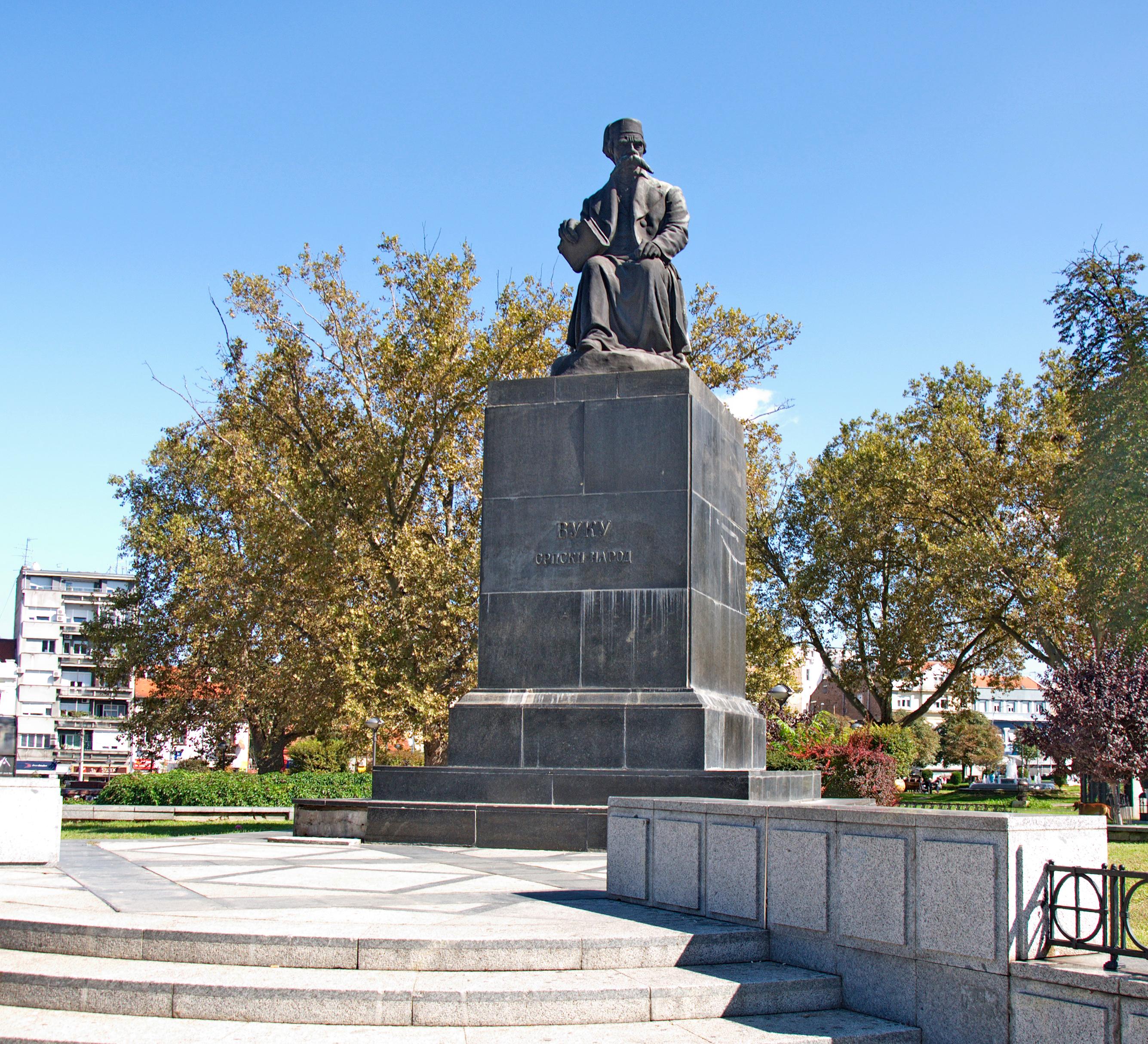File Spomenik Vuku Karadzicu U Beogradu 07 Jpg Wikimedia Commons