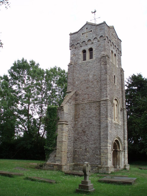 Tower of the former St Thomas's parish church, Northwick, Gloucestershire