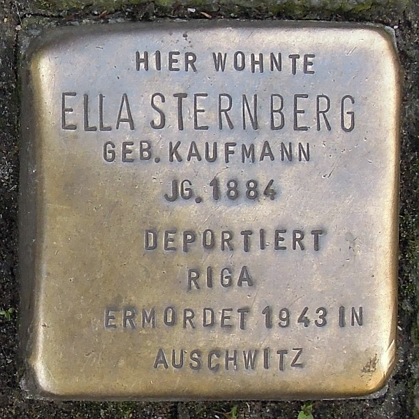 Stolperstein für Ella Sternberg