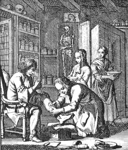 Dutch surgeon, circa 1690.