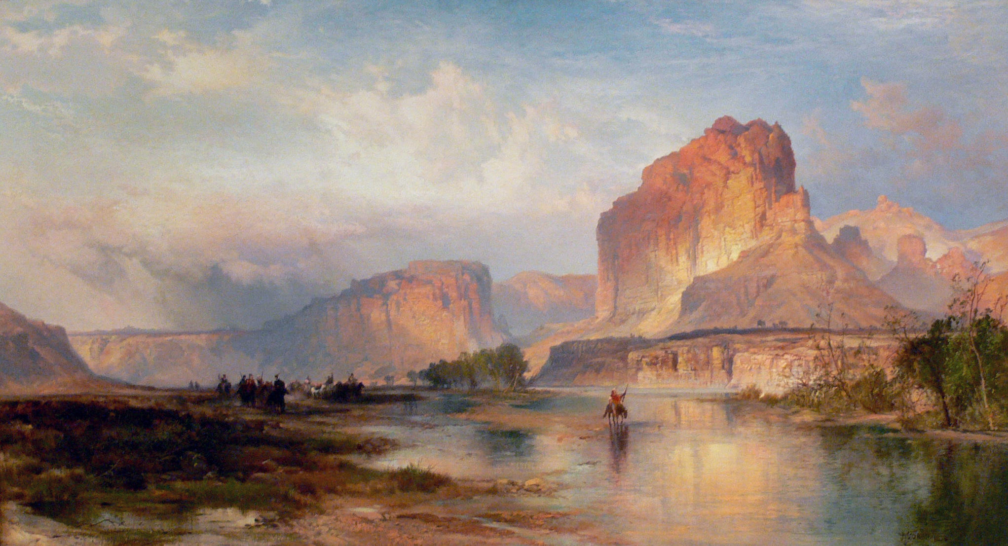 Thomas_Moran_Cliffs_of_Green_River_Amon_Carter_Museum.jpg (2043×1107)