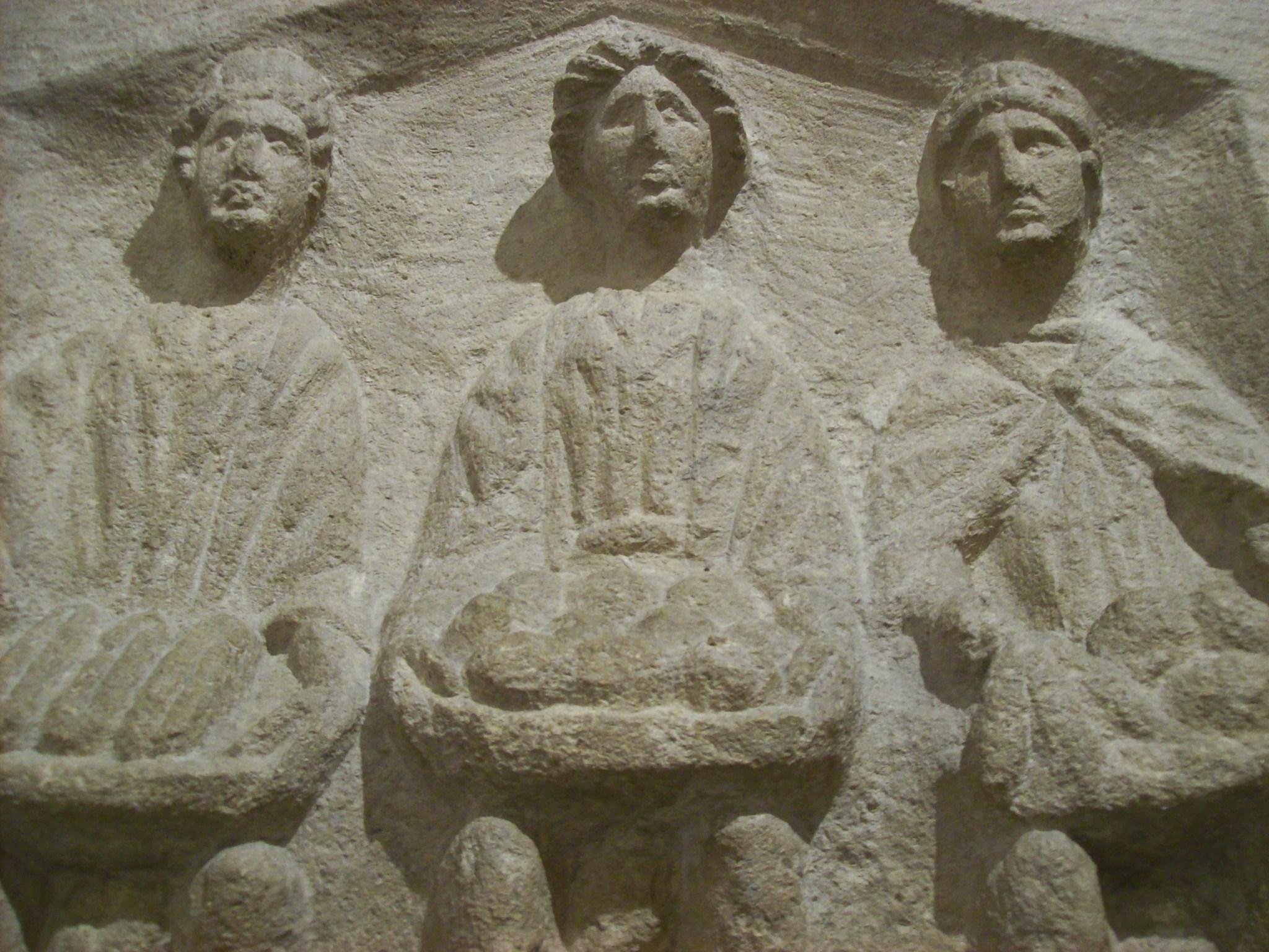 File three goddesses roman high relief sculpture g