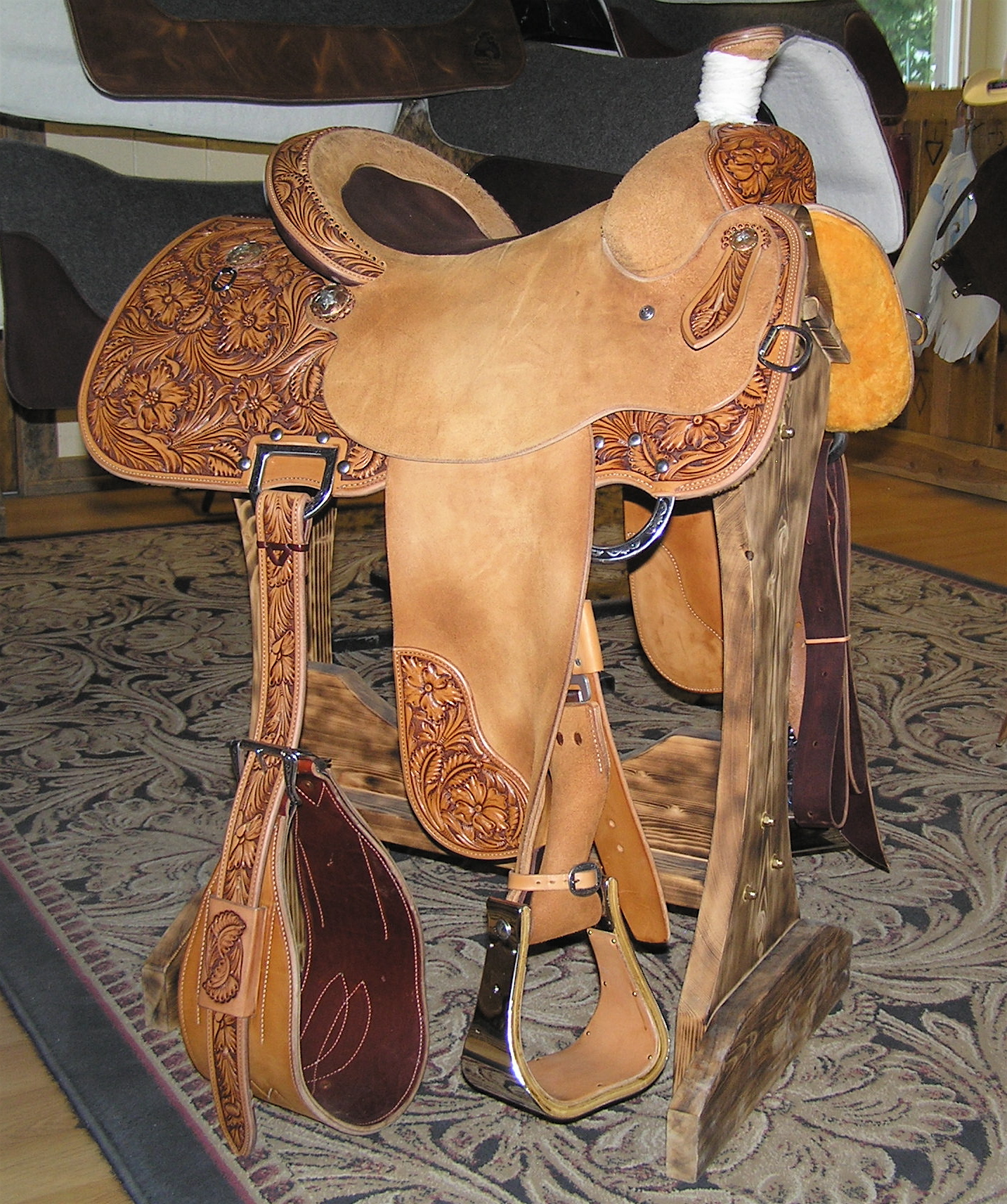 an image of Western%20Saddles Western saddle - Wikipedia