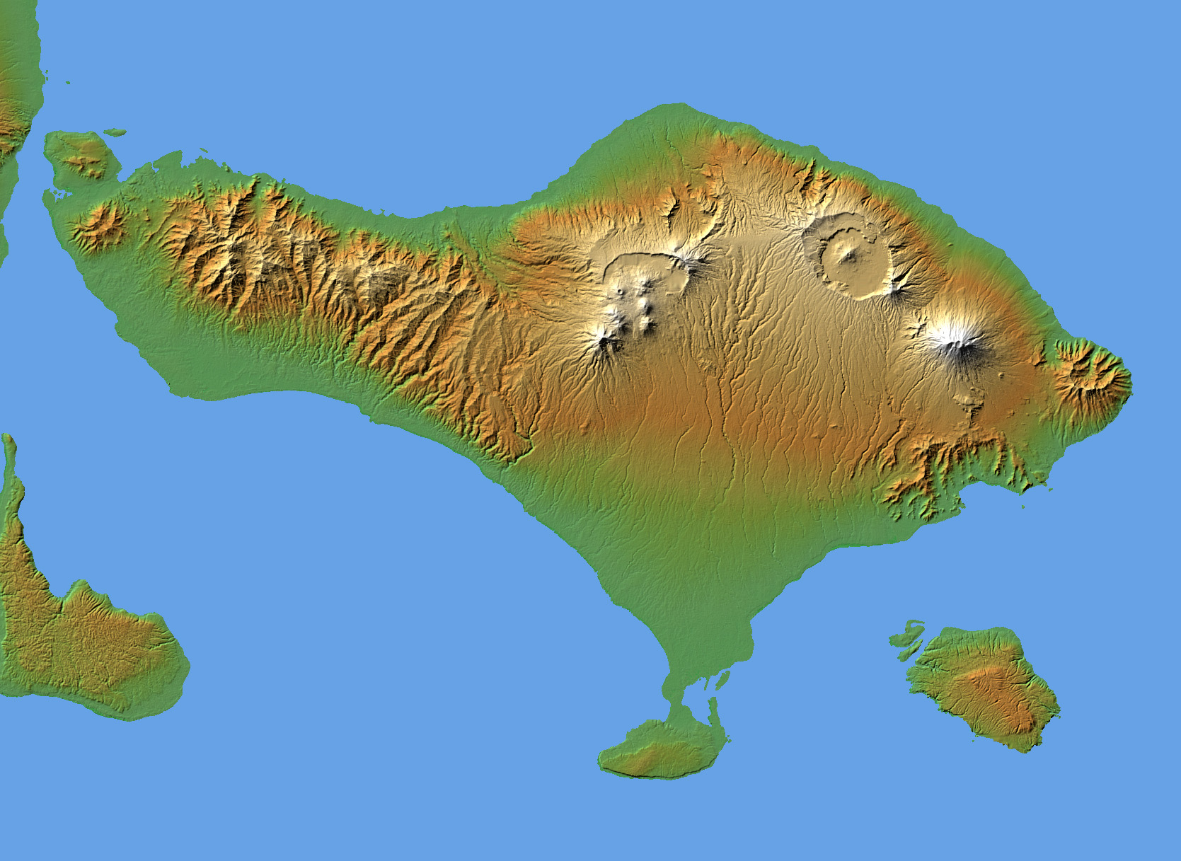 Topographic Image of Bali