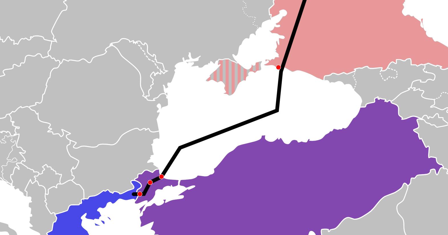 Газопровод турецкий поток схема