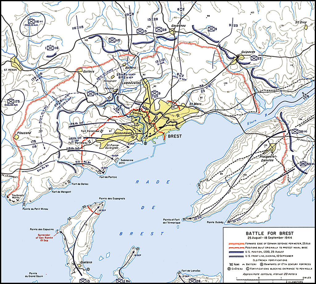 File Us Army Official History Map Of The Battle For Brest Jpg