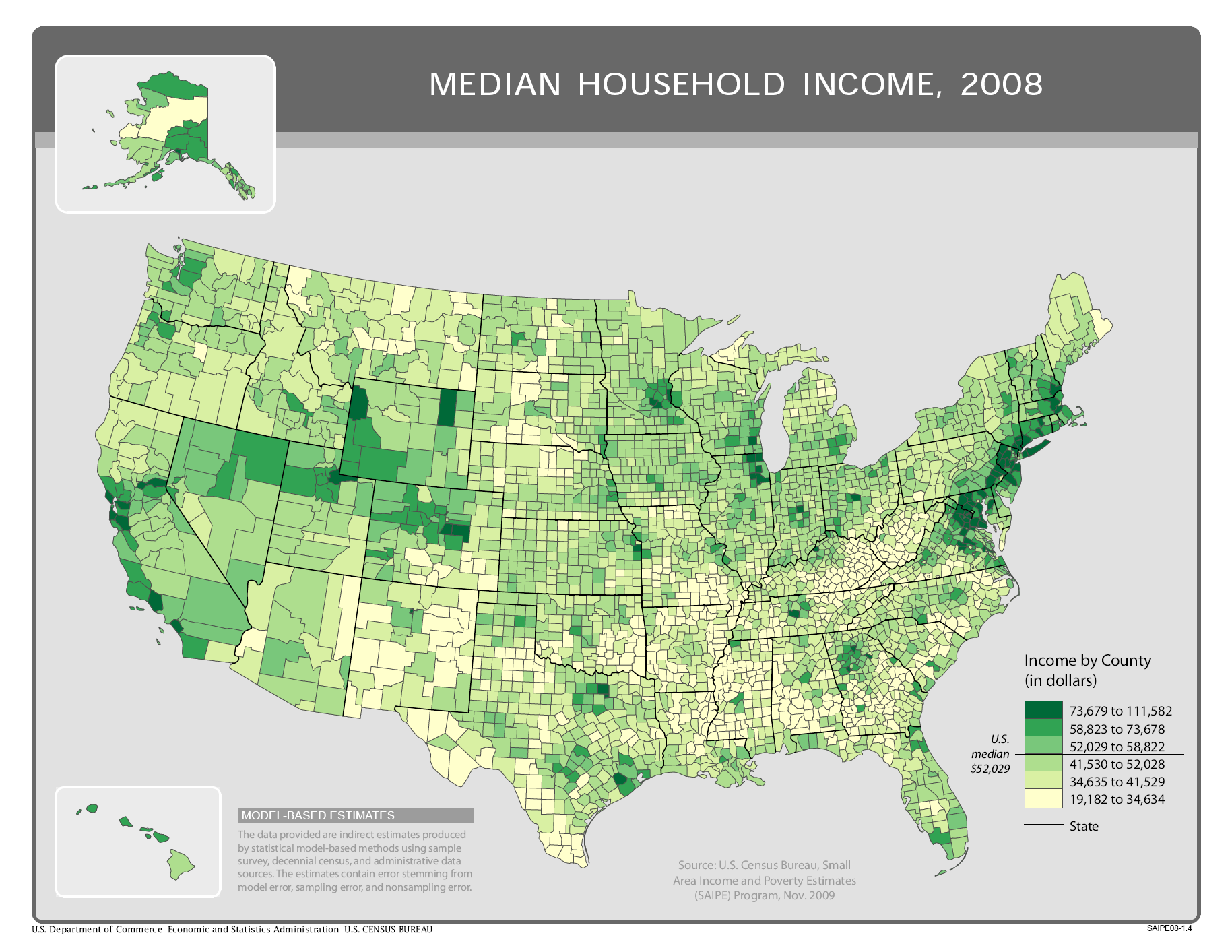 FileUS county household median income 2008png Wikimedia Commons