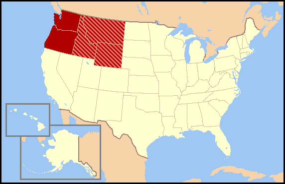 Northwestern United States Wikipedia - Northwestern us map