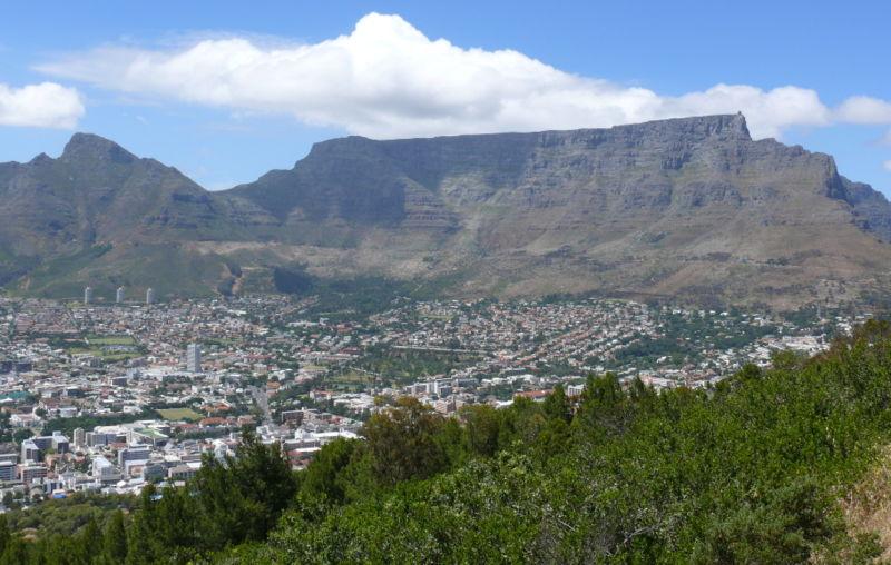 La montagne de la Table vue depuis Signal Hill.
