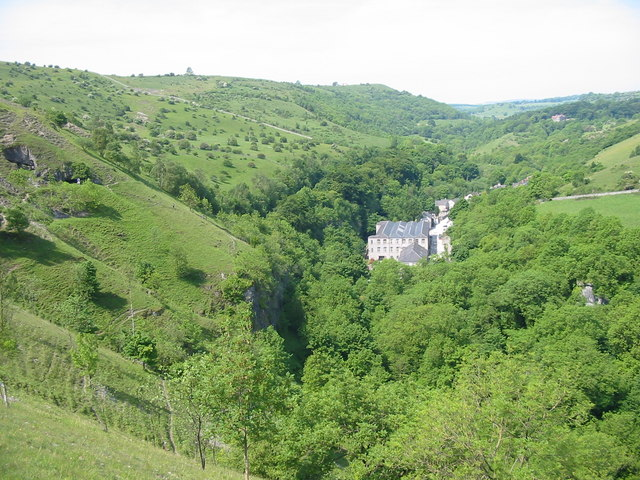 View towards Millers Dale across Litton Mill from the path over Litton Tunnel - geograph.org.uk - 860718