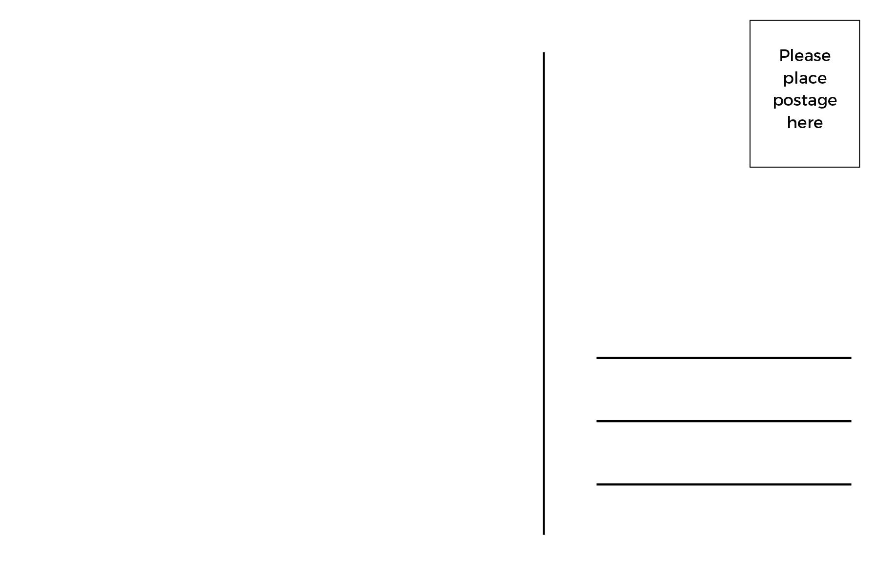 Почтовая открытка шаблон вектор