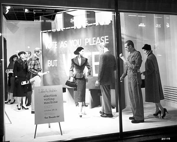 Store Window Display Promoting Voting, 1956