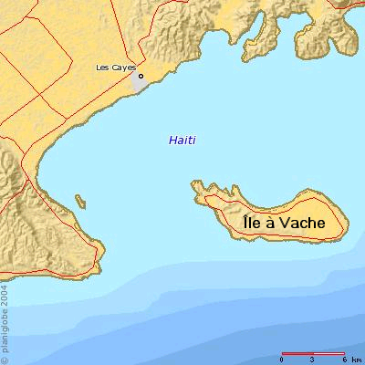 carte de l'île à vache