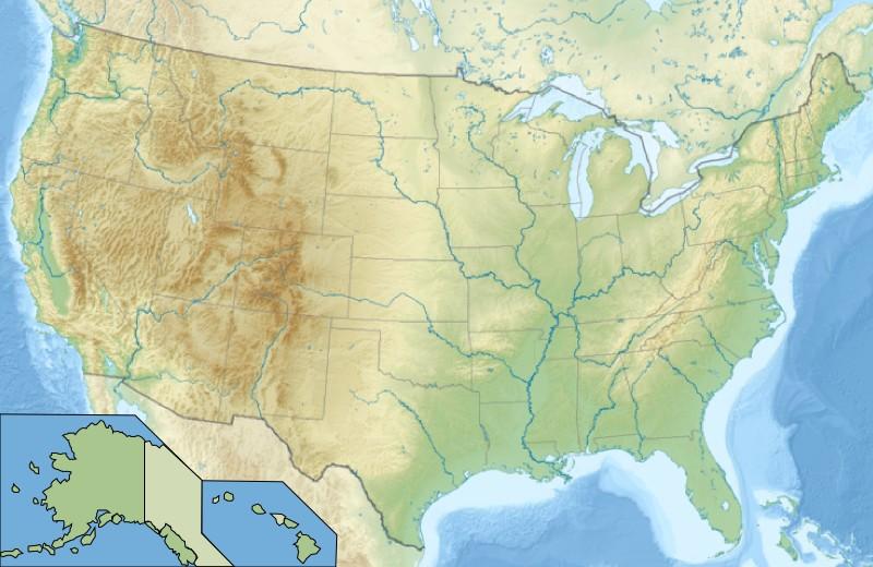 Voir la carte États-Unis topographique