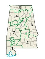 Alabama districts in these elections