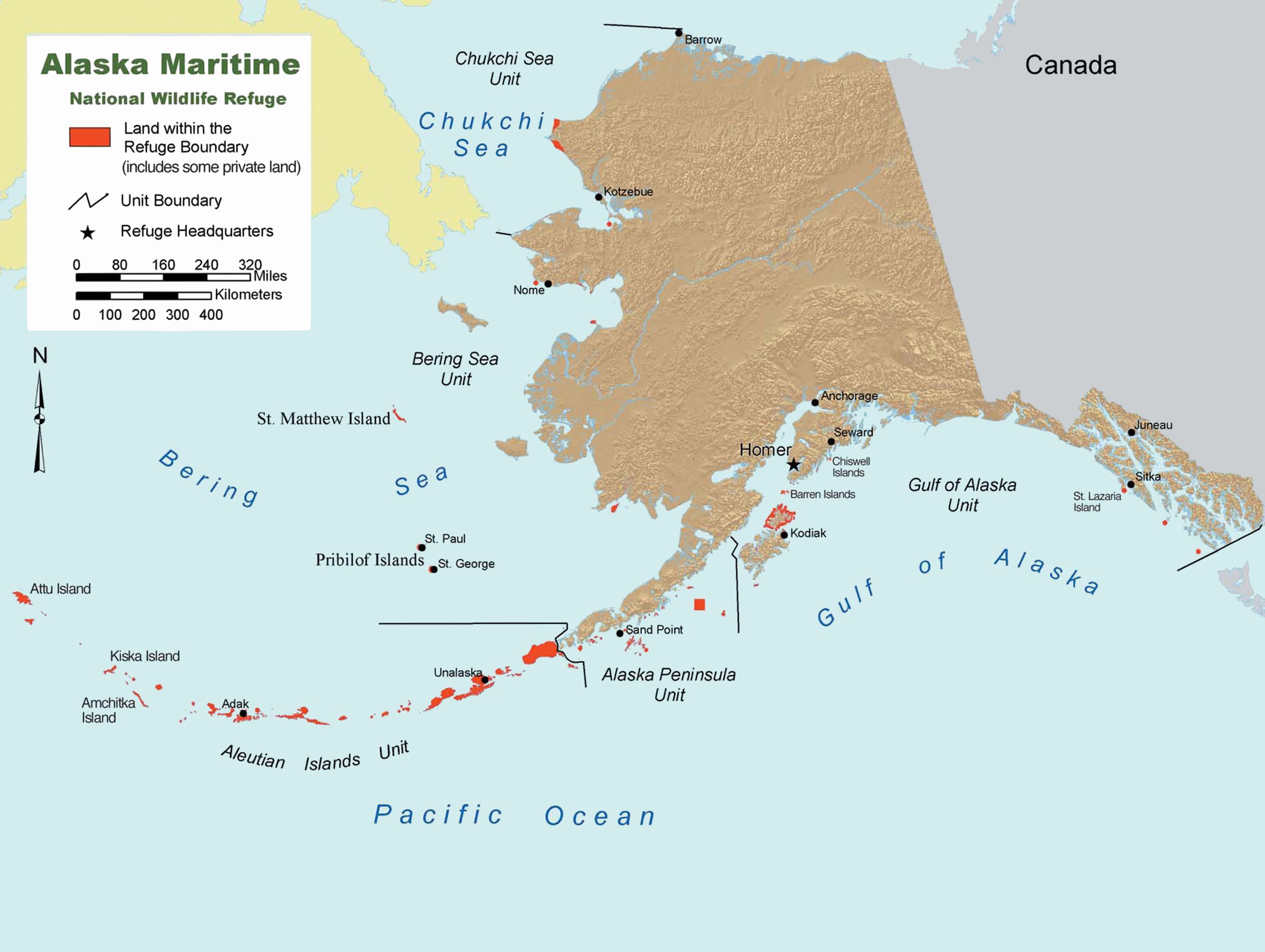 Golf Von Alaska Karte.Alaska Maritime National Wildlife Refuge Wikipedia